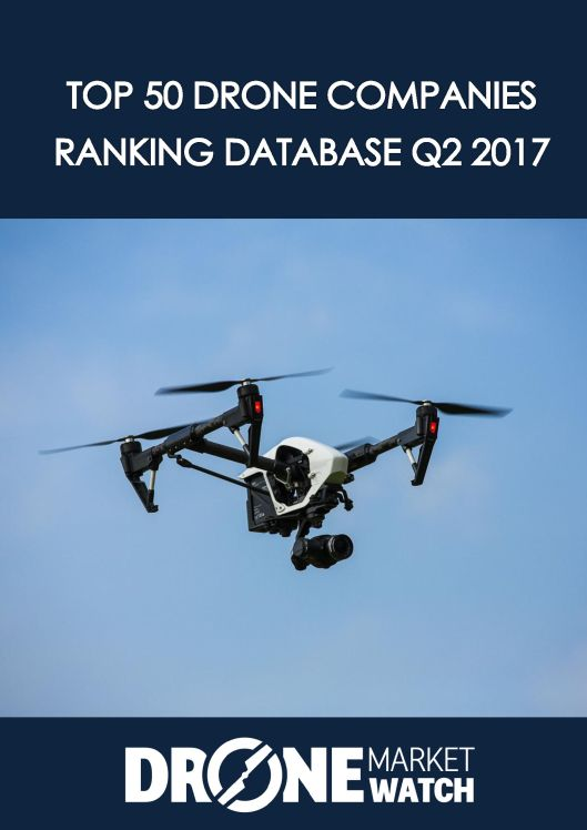 TOP 50 Drone Companies Ranking Database Q2 2017